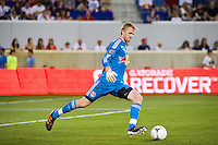 New York Red Bulls goalkeeper Ryan Meara (18). The New York Red Bulls defeated DC United 3-2 during a Major League Soccer (MLS) match at Red Bull Arena in Harrison, NJ, on June 24, 2012.