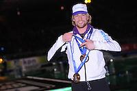 SCHAATSEN: AMSTERDAM: Olympisch Stadion, 28-02-2014, KPN NK Sprint/Allround, Coolste Baan van Nederland, Huldiging Olympische medaillewinnaars, Michel Mulder, ©foto Martin de Jong