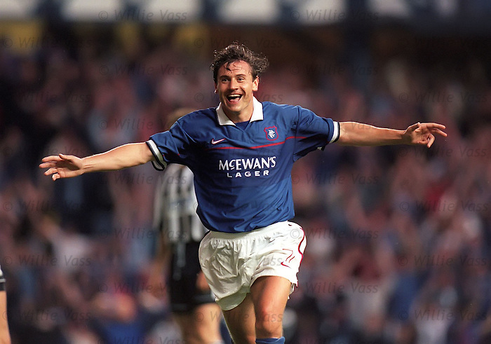 Andrei Kanchelskis eventually hits the goals trail at Ibrox
