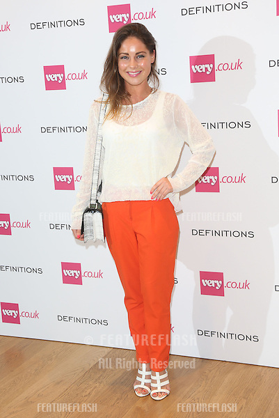 Louise Thompson at the Launch party for Very.co.uk introducing the new fashion brand Definitions at Somerset House<br /> London. 04/09/2013 Picture by: Henry Harris / Featureflash