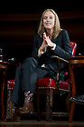 September 28, 2011; Participant Wendy Kopp, CEO and founder of Teach For America, answers a question during the discussion titled, &quot;The Conversation: Developing the Schools Our Children Deserve&quot; part of the 2011-12 Notre Dame Forum at the Leighton Concert Hall. Photo by Barbara Johnston/University of Notre Dame