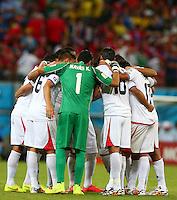Costa Rica team huddle together