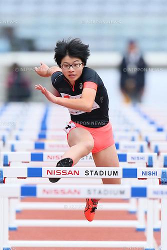 Riko Nakayama, <br /> OCTOBER 30, 2016 - Athletics : <br /> The 47th Junior Olympic Athletics Tournament, <br /> Woen's 100m Hurdles B Heat <br /> at Nissan Stadium in Kanagawa, Japan. <br /> (Photo by AFLO SPORT)