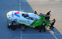 Jan. 20, 2012; Jupiter, FL, USA: Aerial view of the car of NHRA funny car driver Jack Beckman during testing at the PRO Winter Warmup at Palm Beach International Raceway. Mandatory Credit: Mark J. Rebilas-