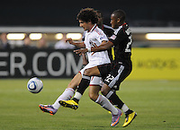 AC Milan forward Alexander Pato (7) fights for possession of the ball against DC United defender Rodney Wallace (22)  DC United defeated AC. Milan 3-2 at RFK Stadium, Wednesday May 26, 2010.