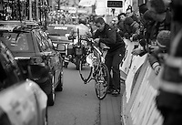 3 Days of West-Flanders, .day 2: Brugge-Kortrijk/Bellegem.Michael Rogers' bike after he crashed (and why!)..