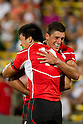 (L-R) Takehisa Usuzuki,  James Arlidge (JPN), AUGUST 13, 2011, Rugby : International test match between Italy 31-24 Japan at Dino Manuzzi Stadium, Cesena, Italy, (Photo by Enrico Calderoni/AFLO SPORT) [0391]