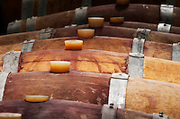 Domaine Cazeneuve in Lauret. Pic St Loup. Languedoc. Barrel cellar. France. Europe.
