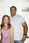 """Passions for 7 years Chrystee Pharris poses with Lamman Rucker (AMC """"Garret Williams"""" and ATWT """"T Marshall Travers"""" did a workshop together at The National Black Theatre Festival with a week of plays, workshops and much more with an opening night gala of dinner, awards presentation followed by Black Stars of the Great White Way followed by a celebrity reception. It is an International Celebration and Reunion of Spirit. (Photo by Sue Coflin/Max Photos)"""
