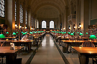 Bates Hall reading room in Boston Public Library at Copley Square Boston MA