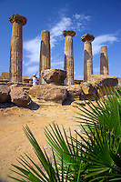 Agrigento, Sicily, Italy, May 2007. The Tempio della Concordia is the most capticating of a series of Greek temples lining the ridge above Agrigento.  The rugged nature of sicily harbours beautiful villages and ruins of ancient civilizations. Photo by Frits Meyst/Adventure4ever.com