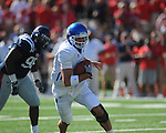 Kentucky's Mike Hartline (5) loks to pass at Vaught-Hemingway Stadium in Oxford, Miss. on Saturday, October 2, 2010. Ole Miss won 42-35 to improve to 3-2..