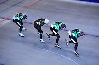 SCHAATSEN: HEERENVEEN: Thialf, 07-06-2012, Zomerijs, Jan Blokhuijsen, Koen Verweij, Sven Kramer, Douwe de Vries, Team Pursuit training, ©foto Martin de Jong