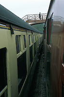 Passenger on Footbridge at Goathland Railway Station
