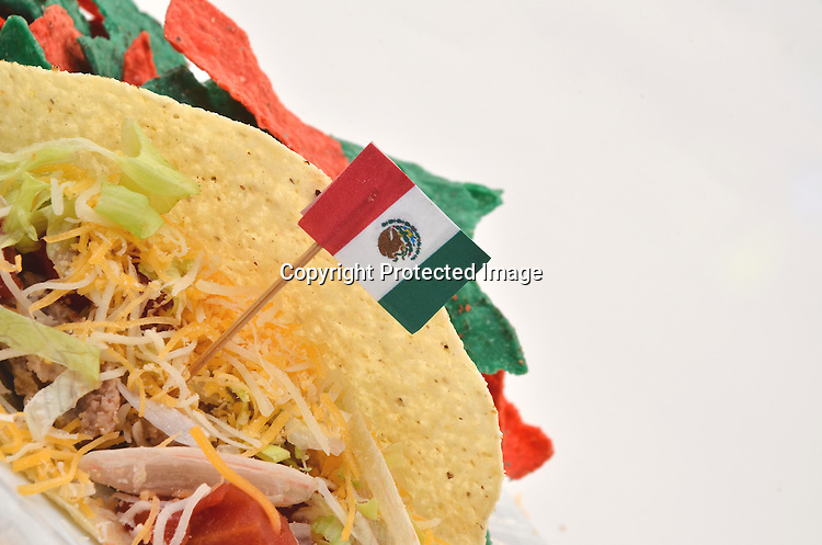 Stock photo of taco and chips
