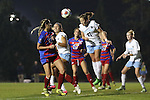 18 November 2016: North Carolina's Darcy McFarlane (11) heads the ball clear. The University of North Carolina Tar Heels played the University of Kansas Jayhawks at Fetzer Field in Chapel Hill, North Carolina in a 2016 NCAA Division I Women's Soccer Tournament Second Round match. UNC won the game 2-0.