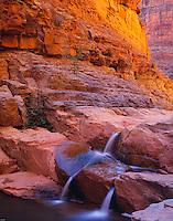 Triplet Falls, Utah    Dark Canyon Glen Canyon National Recreation Area