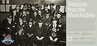 Group of Muni Day Run Motormen and Conductors | May 22, 1947  | Treasures from the Muni Archive at the SFO International Terminal
