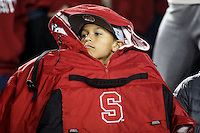 Stanford, CA - November 26, 2016: Fan during the Stanford vs Rice game Saturday at Stanford Stadium.<br /> <br /> Stanford won 41- 17.