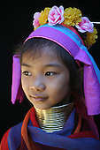Girl of Longneck People in Myanmar