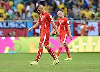 FUSSBALL WM 2014  VORRUNDE    GRUPPE E     Schweiz - Frankreich                   20.06.2014 Johan Djourou (Schweiz) ist zur Halbzeit enttaeuscht