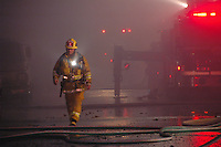 A commercial fire erupted in a Santa Monica business on 14th Street near Pico Boulevard Monday evening, June  1, 2007. Members of the Santa Monica Fire Department responded in force.