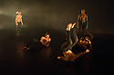 London, UK. 13.01.2015. Salah el Brogy's Company in dress rehearsal of THE RACE, at The Place, where it is part of the Resolution! festival. The dancers are: Salah el Brogy, Nico Migliorati, Dang Hai Dao, Michael Kelland, Jordan Ajadi. Photograph © Jane Hobson.