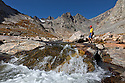WY01259-00...WYOMING - Melt water stream descending into Titcomb Basin in the Bridger Wilderness area of the Wind River Range.