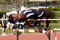 SAN ANTONIO, TX - MARCH 30, 2012: The Trinity University Tiger Relays Track & Field Meet at EM Stevens Stadium on the campus of Trinity University. (Photo by Jeff Huehn)