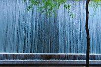 Waterfall, Paley Park, 53rd Street between Madison and Fifth Avenue, Manhattan, New York City, New York, USA, Designed by Zion & Breen