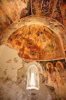 Byzantine Frescos  of the church of the Metamorphosis, Paliachora,  Aegina, Greek Saronic Islands