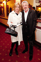 """NO REPRO FEE. 17/1/2010. The Field opening night. Moya Doherty and John Mccolgan are pictured at the Olympia Theatre for the opening night of John B Keanes 'The Field"""" Picture James Horan/Collins"""