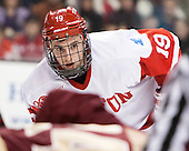 Freshman Robbie Baillargeon (BU - 19) would score BU's only goal. - The Boston College Eagles defeated the Boston University Terriers 3-1 (EN) in their opening round game of the 2014 Beanpot on Monday, February 3, 2014, at TD Garden in Boston, Massachusetts.