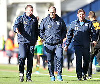 Preston North End's Manager Simon Grayson laves the pitch<br /> <br /> Photographer Mick Walker/CameraSport<br /> <br /> The EFL Sky Bet Championship - Preston North End v Norwich City - Monday 17th April 2017 - Deepdale - Preston<br /> <br /> World Copyright &copy; 2017 CameraSport. All rights reserved. 43 Linden Ave. Countesthorpe. Leicester. England. LE8 5PG - Tel: +44 (0) 116 277 4147 - admin@camerasport.com - www.camerasport.com
