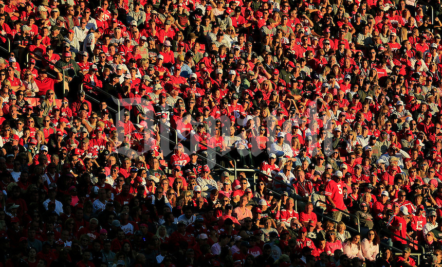 Ohio State Buckeye fans watch during the 2nd half of their game against Indiana Hoosiers in Ohio Stadium in Columbus, Ohio on October 8, 2016.  (Kyle Robertson/ The Columbus Dispatch)