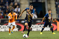 Sebastien Le Toux (11) of the Philadelphia Union. The Houston Dynamo defeated the Philadelphia Union 1-0 during a Major League Soccer (MLS) match at PPL Park in Chester, PA, on September 14, 2013.
