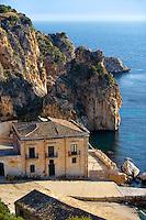 The Tonnara di Scopello [ old Tuna processing factory ] home of writer Gavin Maxwell in the 1950's. Scopello, Castellammare Del Golfo , Sicily.