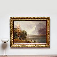 Reference #2694_404733dp<br /> Title Bierstadt: Whytes Lake, Estes Park Colorado Framed Dims.38&quot; x 51&quot; ,Image Dims. 29&quot; x 41.5&quot; Medium, Digital Print
