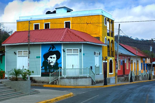 Nicaragua / San Juan Del Sur / Main Street / Augusto Sandino Painting / Pacific Coast