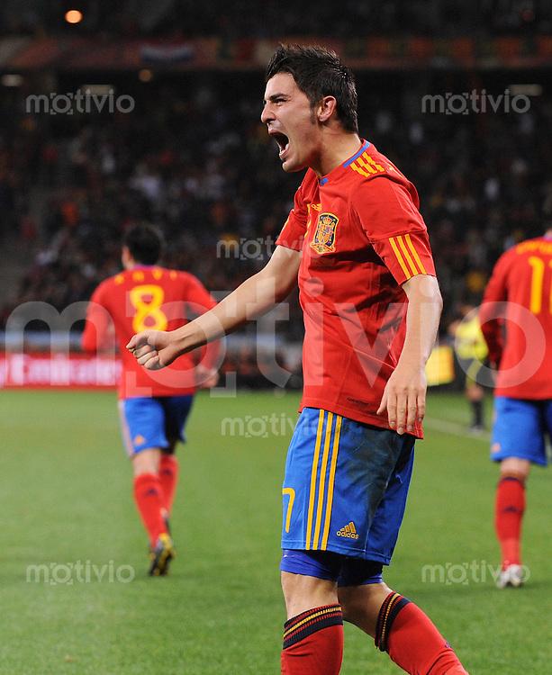 FUSSBALL WM 2010   ACHTELFINALE      29.06.2010 Spanien - Portugal David VILLA (Spanien)