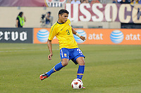 Thiago Silva (3) of Brazil. The men's national team of Brazil (BRA) defeated the United States (USA) 2-0 during an international friendly at the New Meadowlands Stadium in East Rutherford, NJ, on August 10, 2010.