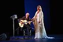 London, UK. 28.02.2016. Sadler's Wells presents Esperanza Fernandez in DE LO JONDO Y VERDADERO, as part of the Flamenco Festival London 2016. Picture shows: Angel Cortes, Esperanza Fernandez. Photograph © Jane Hobson.