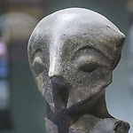 Museum artifacts, Vinča culture site, Vinča-Belo Brdo, near Belgrad, Serbia.<br /> <br /> Occupied since 7000 BC the site sits on the right bank of the Reka Dunav on a loess slope.