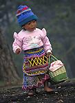 A K'iche' Maya indigenous girl near San Andres Xecul, Guatemala.