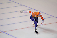 SPEEDSKATING: CALGARY: Olympic Oval, 26-02-2017, ISU World Sprint Championships, 500m Men, Ronald Mulder (NED), national record (Nederlands record) 34.08, ©photo Martin de Jong