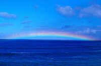 Rainbow over the Pacific Ocean