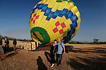 Allison and I in front of the hot air balloon while the Up & Away team fills it in Middletown, California on Saturday July 14th 2012. (Photo By Brian Garfinkel)