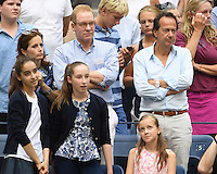 FLUSHING NY- SEPTEMBER 10: John Paulson is sighted watching Angelique Kerber reacts after winning the finals in her match with Karolina Pliskova during the womens finals on Arthur Ashe Stadium at the USTA Billie Jean King National Tennis Center on September 10, 2016 in Flushing Queens. Credit: mpi04/MediaPunch