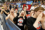 26 MAR 2011:  Ohio State swimmers cheer on their teammates during the 400 Yard Freestyle Relay at the Division I Men's Swimming and Diving Championship held at the University of Minnesota Aquatics Center in Minneapolis, MN.  Gonzalez/ NCAA Photos