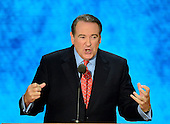 Former Governor Mike Huckabee (Republican of Arkansas) makes remarks at the 2012 Republican National Convention in Tampa Bay, Florida on Wednesday, August 29, 2012.  .Credit: Ron Sachs / CNP.(RESTRICTION: NO New York or New Jersey Newspapers or newspapers within a 75 mile radius of New York City)